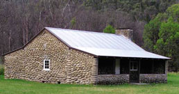 Restored stone hut at Geehi.