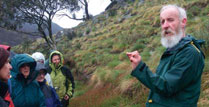 Taking a flora walk with botanist Keith McDougall.