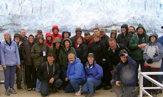 Protected area managers from Alaska (US) and Yukon (Canada)- Borderlands Conference, Glacier Bay National Park - not unlike an Australian Alps get together less the boat and glacier in the background.