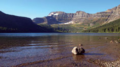 Glacial lake, Waterton Lakes National Park