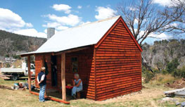 Rebuilt and opened Delaney's Hut